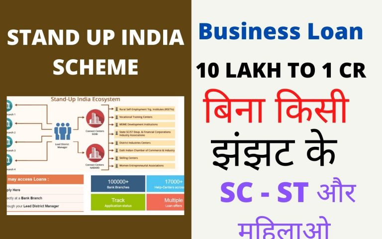Stand Up India loan scheme for Finance SCST And woman entrepreneurs